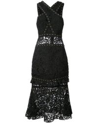 Nicole Miller - Studded Lace Dress - Lyst