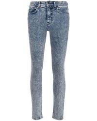Victoria Beckham - Stonewashed Slim-fit Jeans - Lyst