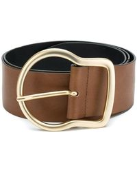 Dorothee Schumacher - Gold Buckle Belt - Lyst