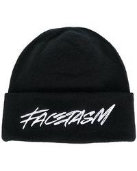 Facetasm - Logo Embroidered Beanie - Lyst