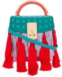 the VOLON - Great L Alice Tassels Mini Bag - Lyst