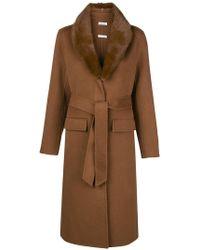 P.A.R.O.S.H. - Detachable Fur Collar Coat - Lyst
