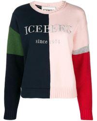 Iceberg - Colour Blocked Logo Jumper - Lyst