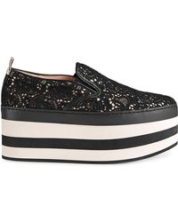 Gucci - Lace Platform Sneakers - Lyst