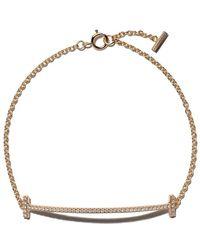 Tiffany & Co. - 18kt Yellow Gold Tiffany T Smile Diamond Bracelet - Lyst