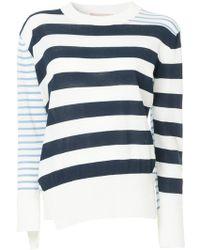 Erika Cavallini Semi Couture | Asymmetric Striped Jumper | Lyst