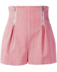 Versace - Houndstooth Stretch Cotton Shorts - Lyst