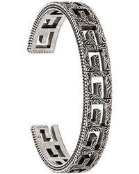 Gucci - Square G Cuff Bracelet - Lyst