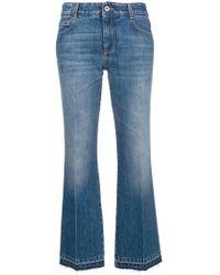 Stella McCartney Cropped-Jeans mit ausgestelltem Bein
