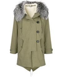 Miu Miu - Hooded Parka Coat - Lyst