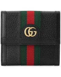 Gucci - Zumi Wallet In Leather With gg Bicolor Monogram - Lyst