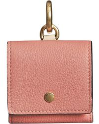Burberry - Small Square Leather Coin Case Charm - Lyst