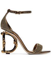 Dolce & Gabbana - G Glitter Sandals - Lyst