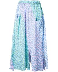 Julien David - Wave Print Pleated Skirt - Lyst