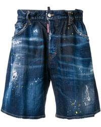 DSquared² - Vaqueros cortos con cinturilla elástica - Lyst