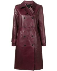 Closed - Double Breasted Coat - Lyst
