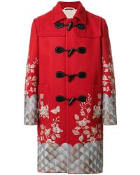 Gucci - Embroidered Twill Coat - Lyst