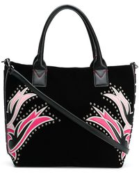Pinko - Square Embroided Tote Bag - Lyst