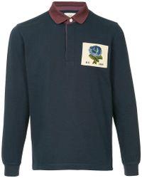 Kent & Curwen - Contrasting Collar Polo Shirt - Lyst