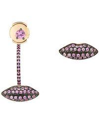 Delfina Delettrez - 'lips' Pink Sapphire Earrings - Lyst