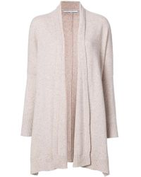 Nina ricci Waterfall Cardigan in Natural | Lyst