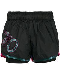 EA7 - Logo Printed Shorts - Lyst