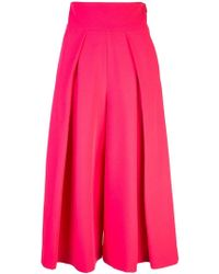 MILLY - Front Pleats Skirt - Lyst