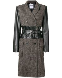 Moschino - Belted Coat - Lyst