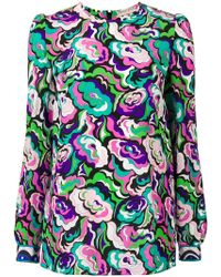 Emilio Pucci - Abstract Floral Longsleeved Blouse - Lyst