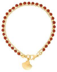 Astley Clarke - Red Agate Shell Biography Bracelet - Lyst
