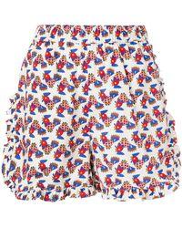 LaDoubleJ - Galletti Ruffle Shorts - Lyst