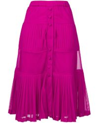 N°21 - Tiered Pleated Skirt - Lyst