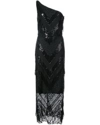 Christian Siriano - Sequin Lace One Shoulder Dress - Lyst