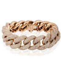 SHAY | Jumbo Pave Link Bracelet | Lyst