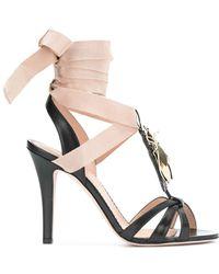RED Valentino - Beetle Embellished Sandals - Lyst