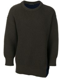 Cedric Charlier - Pullover in Colour-Block-Optik - Lyst