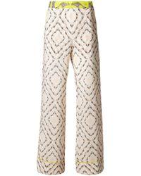Antonia Zander - Safari Printed Flared Trousers - Lyst