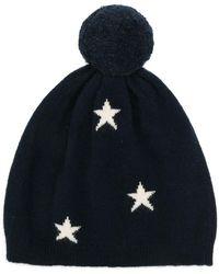 Chinti & Parker - Navy Cashmere Star Hat - Lyst