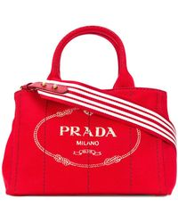 Prada - All Designer Products - Structured Tote Bag - Lyst