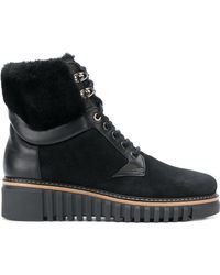 Loriblu - Fur And Leather Trim Ankle Boots - Lyst