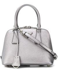7b1ecb06a25b Prada Pink Promenade Mini Leather Bag in Metallic - Lyst