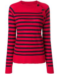 Zadig & Voltaire - Reglis Striped Embellished Top - Lyst