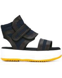 Marni - Canvas Platform Sandals - Lyst