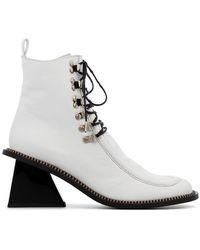 Marques'Almeida - Square Toe Lace Up Boots - Lyst