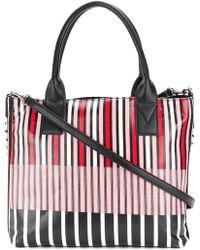 Pinko - Striped Logo Tote Bag - Lyst