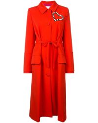 Carolina Herrera - Heart Embellished Coat - Lyst