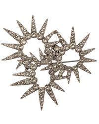 Oscar de la Renta - Sea Urchin Crystal Brooch - Lyst