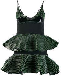 David Koma - Striped Panelled Dress - Lyst