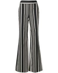 Alice + Olivia - Striped Wide-leg Trousers - Lyst