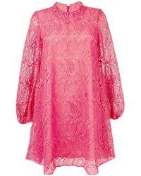 Giamba - Flared Lace Dress - Lyst